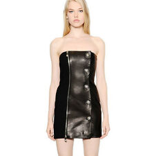 VERSUS VERSACE Anthony Vaccarello $2384 strapless leather lion head dress 42 NEW