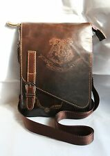 Harry Potter inspired Small Leather Bag /Purse, engraved with the Hogwarts crest