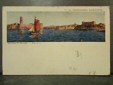 cpa 13 marseille panorama cie des messageries maritimes