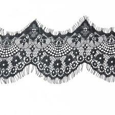 3 Yard 10cm Wide Black Eyelash Lace Trim DIY Sewing Applique