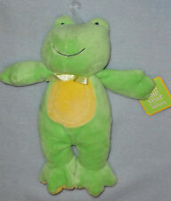 Carters Just One Year Plush Green Yellow Tummy Frog Ribbit Sound Plush Baby Toy