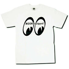 SMALL MOON EQUIPPED WHITE SHIRT RAT HOT ROD FORD CUSTOM GASSER DRAG RACING NHRA