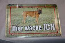 Boxer Blechschild 20x30 cm Blechschilder  Schild Hund Dog  Wachhund  Warnschild