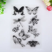 Insects Winged Scrapbook DIY Photo Albums Cards Silicone Transparent Crafts