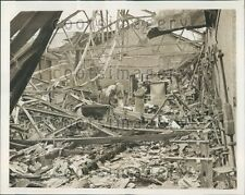 1941 Officials Survey Fire Damage State Hospital Trenton New Jersey Press Photo