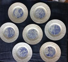 Set of 7 Wedgwood Donner Expedition Plates, 1939
