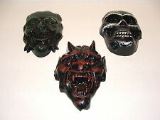 DEVIL,WITCH AND SKULL WALL PLAQUES.LATEX MOULD/MOLDS/MOLD