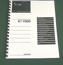 Icom IC-7200 Advanced Instruction Manual: Premium Card Stock Covers, 32 LB Paper