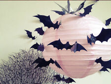 Halloween 12pcs 3D Stereoscopic Bat Wall Sticker Decal Removable Room Decoration