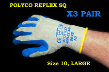 PolyCo safety work gloves REFLEX SQ Hi Grip THERMAL INSULATED SOFT FEEL x3 PAIR