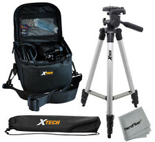 """Xtech 50"""" Tripod w/ Case for Advanced Point & Shoot Cameras & small Camcorders"""