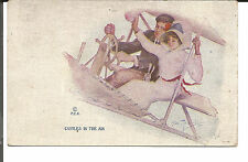 CASTLES IN THE AIR ROMANTIC COUPLE IN EARLY AIRPLANE AUGUSTA 1910