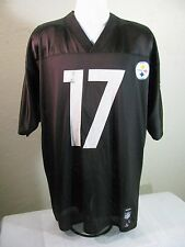 Pittsburgh Steelers Black #17 Mike Wallace Black Jersey Size Large Reebok