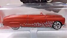 Hot Wheels 2005 Holiday Rods 1949 Merc Convertible in Red #3/5