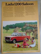 Lada 1200 Saloon brochure c1977