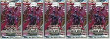 YuGiOh! Galactic Overlord New and Sealed YuGiOh Booster Packs x5