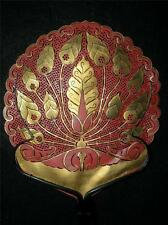 ANTIQUE CALLIGRAPHY PAPER HAND PAINTED AND BONE LADIES HAND FAN