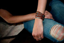 The Sexy Siren | Womens Leather/Sterling Silver/Turquoise Bracelet