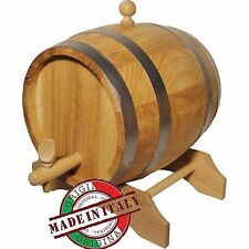 Imperdibile botte in rovere legno naturale 3 lt per vino birra made in italy new