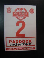 Ticket Gauloises Blondes GP of Belgium 1988 Spa Francorchamps Paddock Industrie