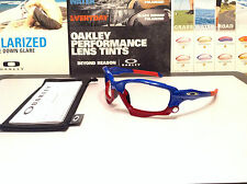 Oakley Racing Jacket Blue w/ Silver Thru Bolts and accents - OCP Oakley