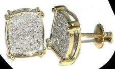 Real Natural Single Cut 0.55TCW Diamond Certified Earring in 14kt Yellow Gold