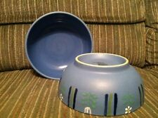 Set Of Two (2) Studio Nova ~ Flora Blue ~ Coupe Soup / Cereal Bowl 6 1/2""