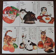 Lot of 30 Animal Lovely Cat and Food Art Painting Postcards