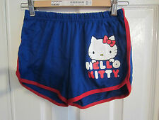 HELLO KITTY BLUE AND RED  SLEEP SHORTS FROM HOT TOPIC SIZE  LARGE