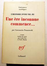 RUSSIE/L'HISTOIRE D'UNE VIE/TOME III/UNE ERE INCONNUE.../C.PAOUSTOVKI/NRF/1973