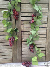 Artificial Wired Fruit Grape Vine Garland - Red Grape Bunches 180 cm