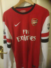 ARSENAL HOME 2012-14  NIKE SHIRT LONG SLEEVE PODOLSKI 9 LARGE ENGLAND GERMANY