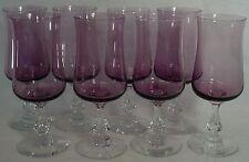FOSTORIA crystal DISTINCTION PLUM 6125 pattern WATER GOBLET or GLASS set of 8