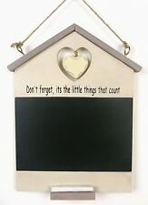 Shabby Chic Chalk Board Wall Hanging Kitchen Memo Wooden  Heart Blackboard