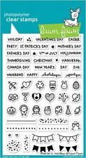 Lawn Fawn Photopolymer Clear Stamp Set ~ PLAN ON IT: HOLIDAYS -Icons  ~LF1231