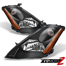 For 2003-2007 Murano Crystal Black JDM Style Front Headlights Headlamps Assembly