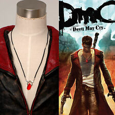 Devil May Cry DMC Cosplay Prop Dante Red Crystal Cosplay Necklace Halloween