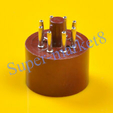 2pcs Brown Red Vintage Tube 8pin Octal Base Socket EL34 6CA7 6SN7 KT88 6L6 KT66
