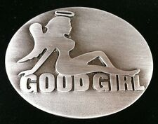 Belt Buckle Good Girl Halo Angel Cool Naked Mudflap Girls Boucle de Ceinture