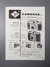 R&L Ex-Mag Vintage Advertisement: Agfa Silettte & Isola Cameras 1950's