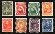 Newfoundland #78-85 1897-01 VF *Mint* Set 8 items