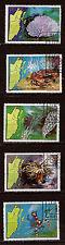 BELIZE 1982  Corails, Crustacés n° 646-650   belle côte 36,75$    28m266t3