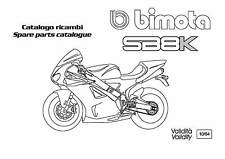 COPIA CATALOGO RICAMBI BIMOTA SB8K COPY SPARE PARTS CATALOGUE ( ITA ENG )
