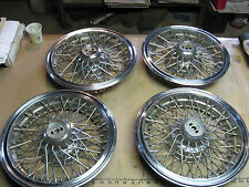 "4 Cadillac DeVille Eldorado Seville Hub Cap Wheel Cover 14"" stainless steel GM"