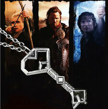 LOTR Thorin Oakenshield KEY TO EREBOR Pendant Hobbit Treasure Map Key Necklace