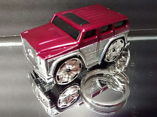 Purple Silver Mercedes G500 G-Wagen SUV Stylized Diecast Key Chain Ring Bling