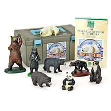 NEW Endangered Animals Wild Bears PVC Figure Set 8 pcs In Box Colorata Japan F/S