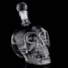 1000ML Crystal Skull Head Vodka Whiskey Shot Home Bar Glass Bottle Decanter FT