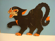 Vintage Halloween BLACK CAT WALKING BEISTLE, STANDS ALONE, 12""