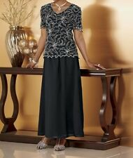 Mother Of Bride Groom Women's Wedding Party Beading Skirt suit dress size 16 XL